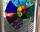RESERVED for Blaine - spiral stained glass suncatcher