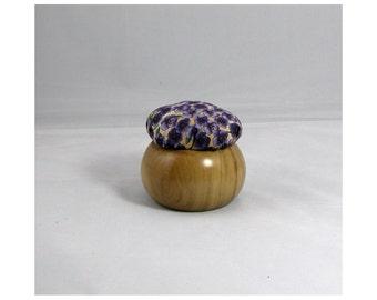 Pin Cushion with a Hardwood Base