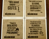 Walking Dead coasters-  25 designs available for you to make our own custom set of 4