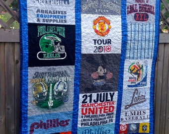 Memory, T-shirt Quilt -  Custom Repurposed, Upcycle