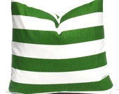 PILLOW, Green Pillow, Striped Pillow Green Pillow cover, Decorative Pillow, Throw Pillow cover, Accent Pillow, Kelly Green Pillow, Throw
