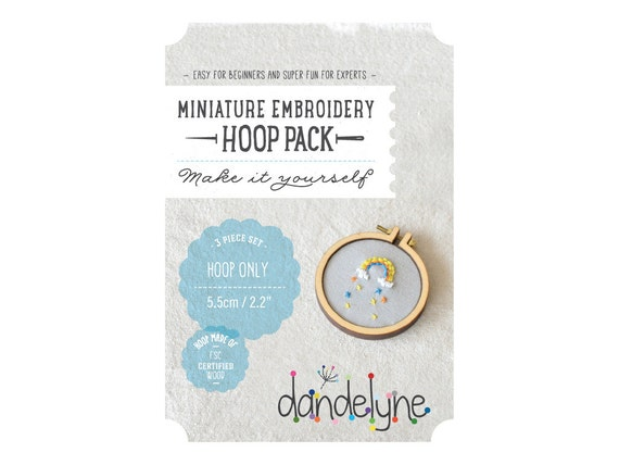 55mm miniature embroidery hoop frame DIY kit - 2.2