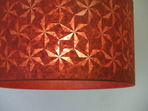 2 x Geometric Stars lampshades