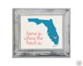 Items Similar To Florida State Art Print Custom 8x10