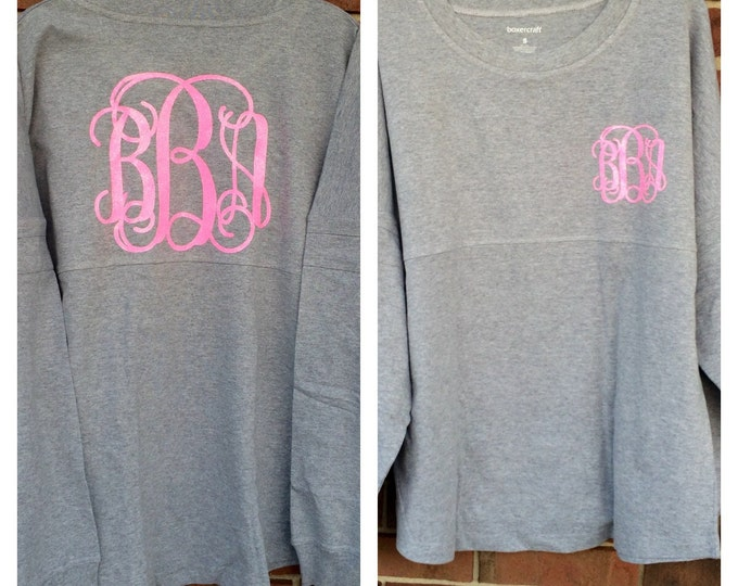 Monogrammed Oversized Pullover, Monogrammed Shirts, Monogram Tunic Shirt, Mother Daughter Monogram Pullovers, Pom Pom Pullover