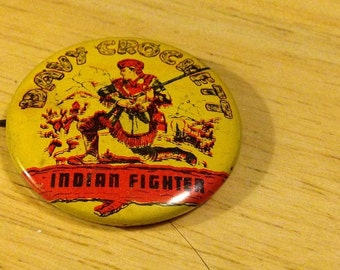 Davy Crockett - Indian Fighter Pinback Button