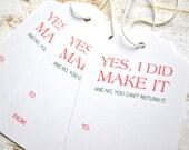 Christmas Gift Tags handmade gift tags I made it Handmade item tags homemade tags
