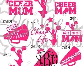 Cheer Mom Decals/Cheerleading Decals