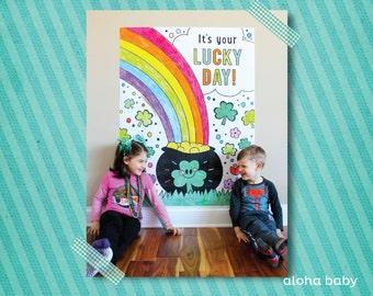 Aloha Baby giant St Paddys coloring page printable