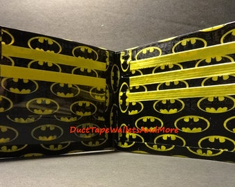 Handmade Duct Tape wallet With Batman Logo