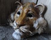 3 D Masks Masquerade masks Paper mache lion head mask lion costume