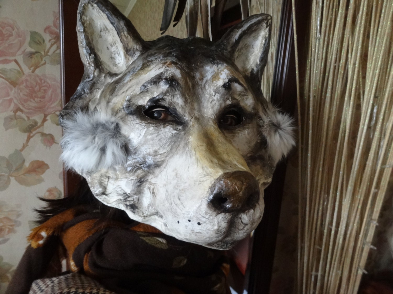 Masquerade masks paper mache wolf mask wolf by miesmesaberni for Paper mache mash