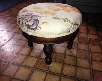 Beautiful Vintage Foot Stool or Ottoman