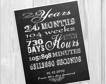 2 year anniversary printable: minutes, hours, seconds, days, years, lds Sobriety