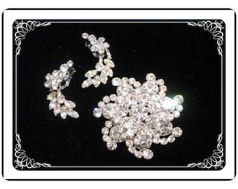 Vintage Juliana Set - Fantastic Swirls of Icy Rhinestones D&E    Demi-829a-021810060