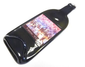 Flattened Bottle - New York City Skyline Water Color Art Print