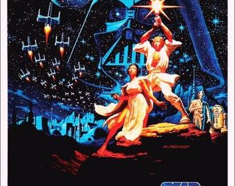 """Star Wars """"STAR WARS"""" Stand-Up Movie Display - Version 2"""