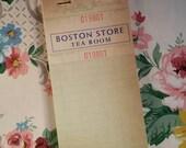 Gorgeous Vintage Booklet Boston Store Tea Room Mid-Century Receipt Pad Department Store Unused NOS Aqua Mint Green