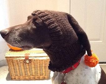Hand Knit Dog Stocking Hat