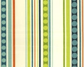 Home Decor Drapery Bedding Upholstery Fabric Groovin Mambo Stripe Teal Orange Green Turquoise