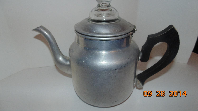 Mirro Percolator Coffee Maker : VINTAGE Antique Mirro Aluminum Drip Coffee Pot Percolator