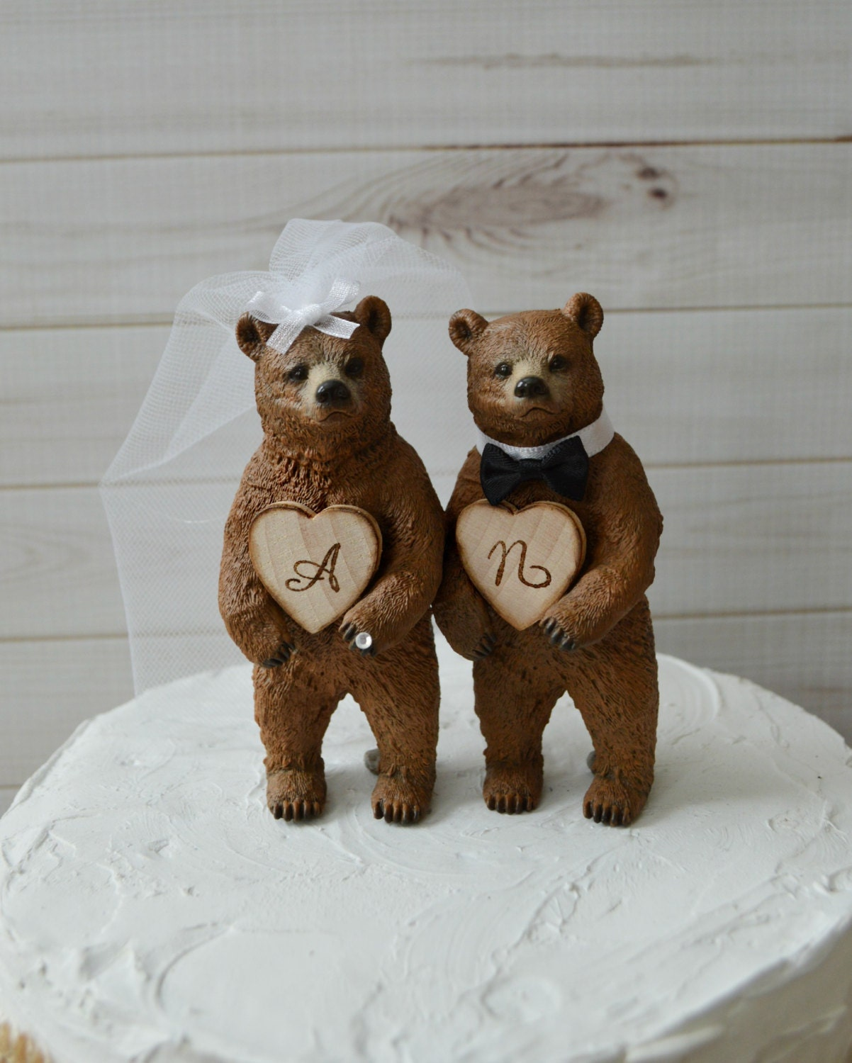 bear wedding cake topper country wedding cake topper rustic brown by 11201