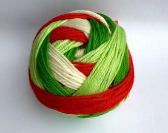 SOCK - Candy Cane Self-striping yarn