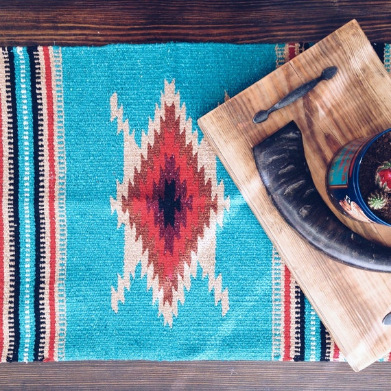 Soutwest Mexican Navajo Textile Rug Table Runner Wall Tapestry