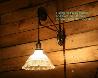 Large Pulley Wall Mount for your Pendant Light or add one of ours
