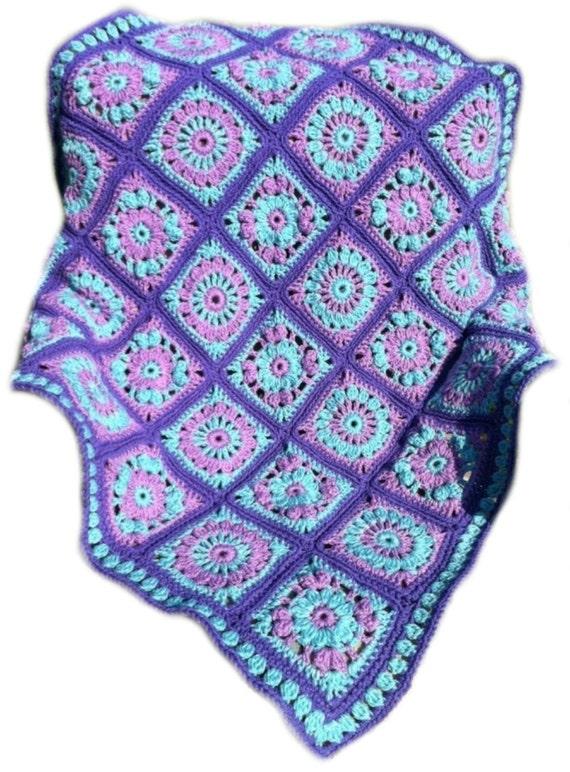 Baby blanket crochet baby afghan granny square afghan handmade