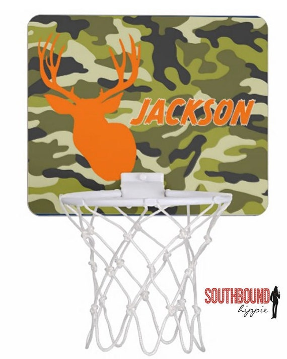 Basketball hoop mini camo personalized basketball by lollipopink - Garbage can basketball hoop ...