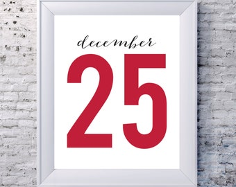 December 25 Red