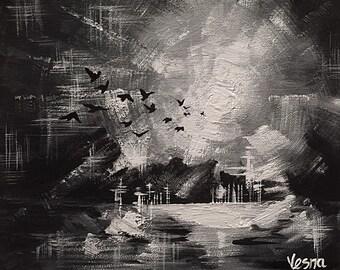 "Into The Light - Acrylics on 8""x10"" Canvas"