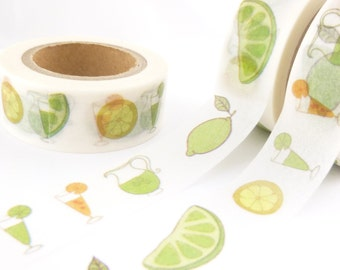 Lemon and Lime Summer Time  Washi Tape - W780