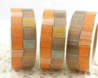 Stylized, Abstract, Orange, Tan Washi Tape - K1030