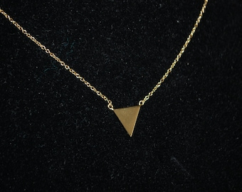 Gold Vermeil Spike Necklace, Spike Necklace Sterling SIlver with Vermeil Overlay