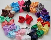 PICK 10 - 10% off NON SLIP bows - Baby big bows - big girl bow -  bows - Girl hair bow - Toddler hair bows - extra big bows - bows for girl