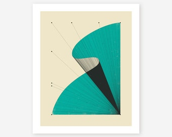 Modern Abstract Wall Art for the home decor by Jazzberry Blue, Fine art Print