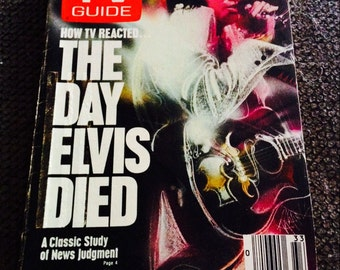 Vintage TV Guide The Day Elvis died