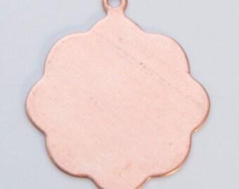 """Copper Blanks Medallion With Ring 13/16"""" 24ga Pkg Of 6"""