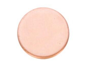 Copper Blanks Circle 1 Inch 24ga Pkg Of 6
