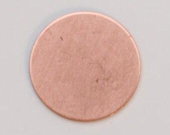 Copper Blanks Circle .5 Inch 24ga Pkg Of 6