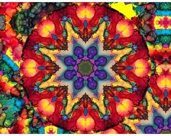 P79 - Postcard Art Print - Abstract Kaleidoscope
