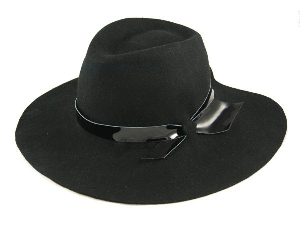 hat on sale winter hat womens hat black floppy fedora hat