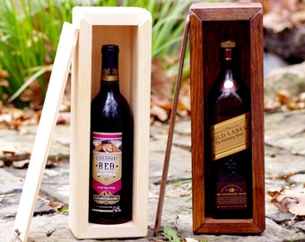 Wine Box - Wine Gift Box - Whiskey Box - Whisky Box - Groomsman Gift