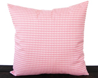 Throw pillow cover baby pink Houndstooth cushion cover pillow sham nursery decor
