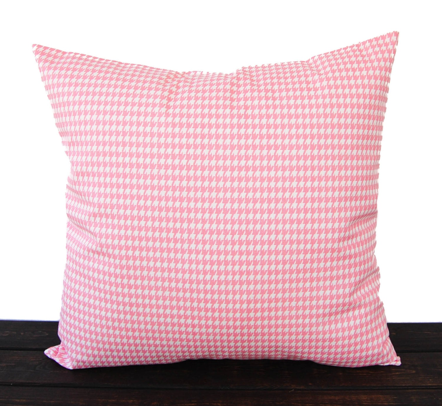 Baby Pink Decorative Pillows : Throw pillow cover baby pink Houndstooth cushion cover pillow