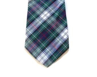 Green and Blue Plaid Tie - Cotton - American Eagle Outfitters - Mens Ties - Plaid Ties - Cotton Ties - Mens Necktie Ties - Rustic Wedding