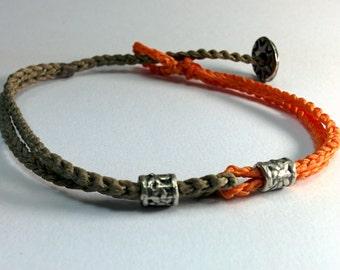 Handmade by ComaBella Sailing 2 colors  Bracelet, Nautical Sailing Bracelet – wax cord Bracelet- gift,