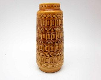Caramel glossy Inka decor vase by Scheurich (260-22)